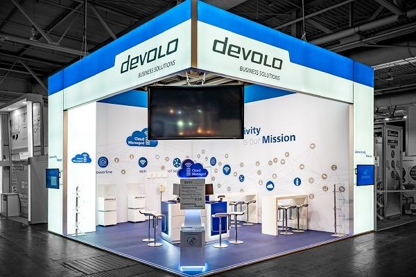 booth construction RocketExpo CeBIT Hannove devolo