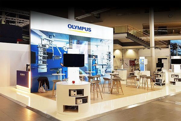 Messestand Olympus Viszeralmedizin München