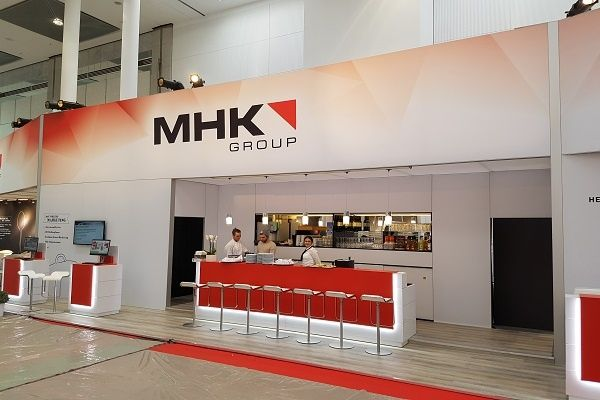 booth construction RocketExpo MHK IMM Cologne